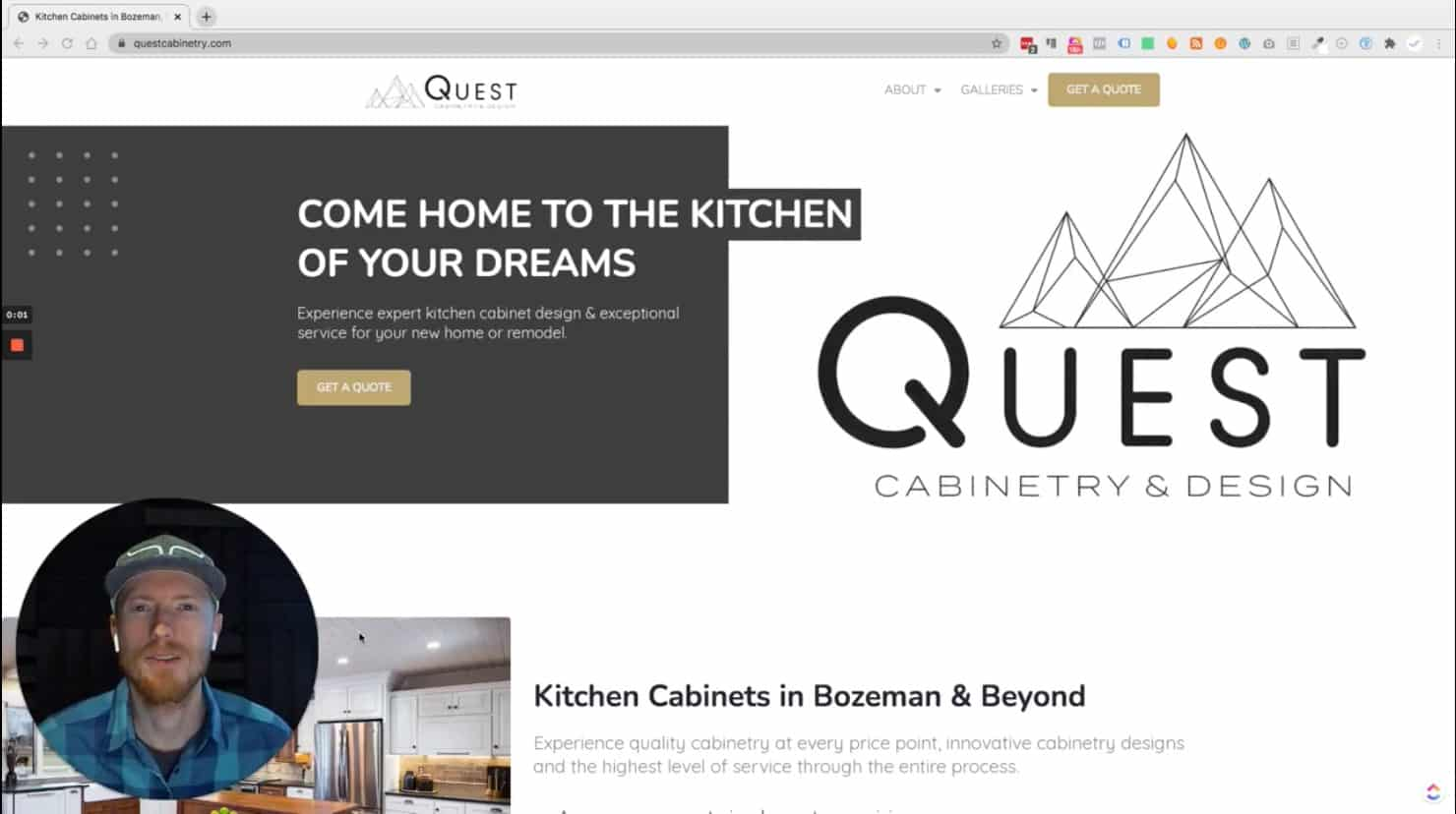 WebdesignWednesday feat. Quest Cabinetry & Design - WordPress Websites in Bozeman